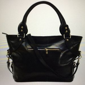 FLOTO Taormina Full Grain Leather Handbag *Black*